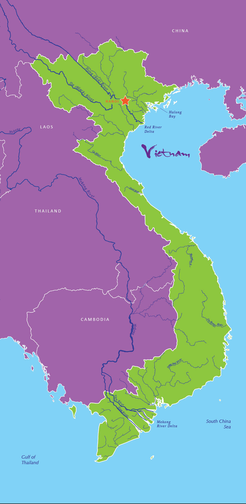 Rivers And Waterways Voyage To Vietnam - Rivers of vietnam map